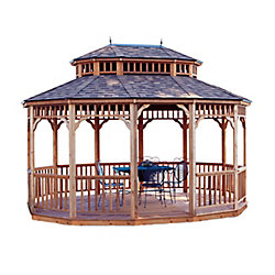 Handy Home Products Monterey 10 ft. x 14 ft. Oval Gazebo