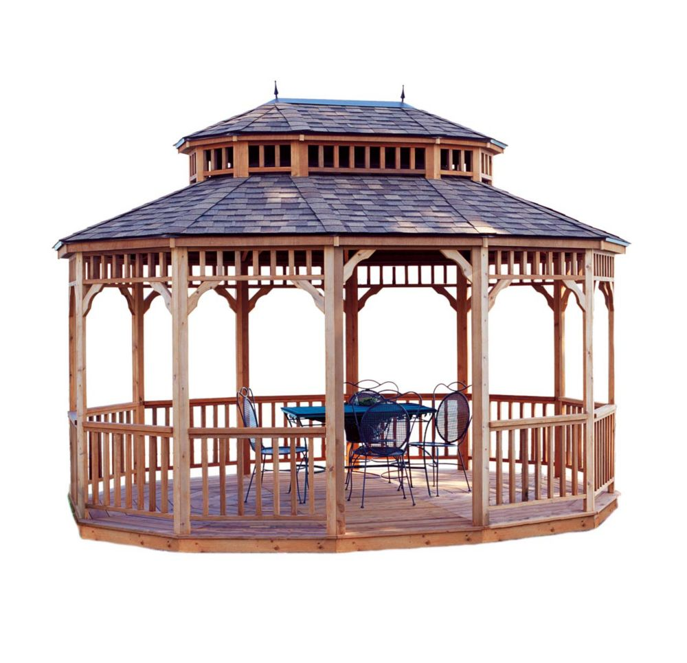 Handy Home Products Monterey 12 ft. x 16 ft. Oval Gazebo