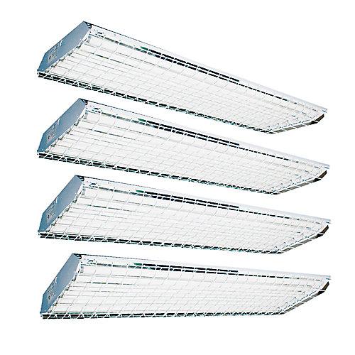 Value Pack de la poudre de baie de la lampe élevée 6 enduit blanc T8 de luminaire fluorescent
