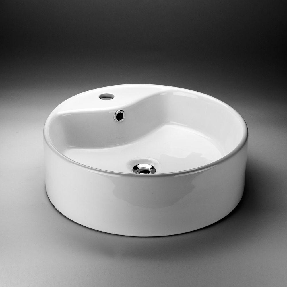 Round Countertop Vessel Sink