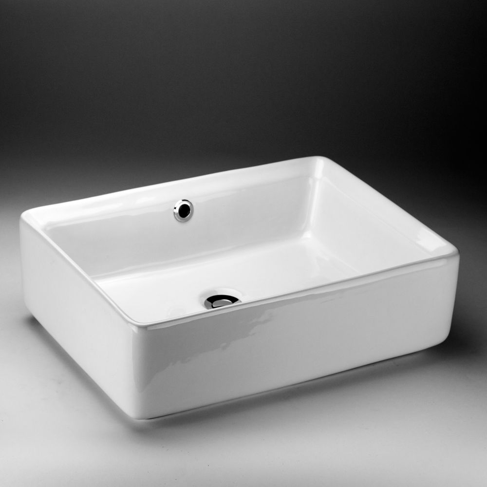 Acri Tec Rectangular Countertop Vessel Sink The Home