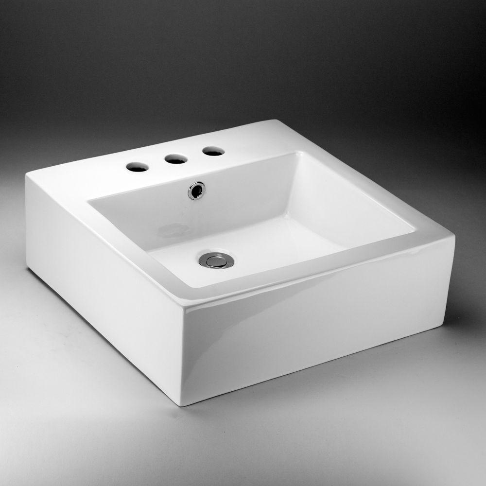 Square Countertop Vessel Sink