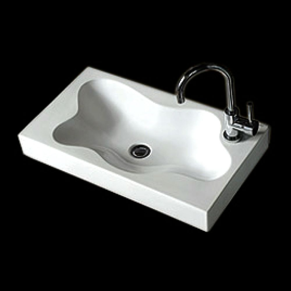 Neptune Ceramic Rectangular Countertop Sink Basin