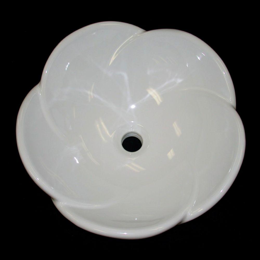 Lavabo de dessus de comptoir en céramique rond