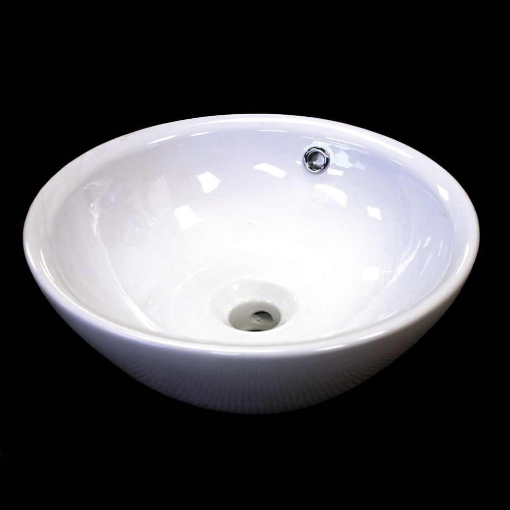Round Countertop Vessel Sink