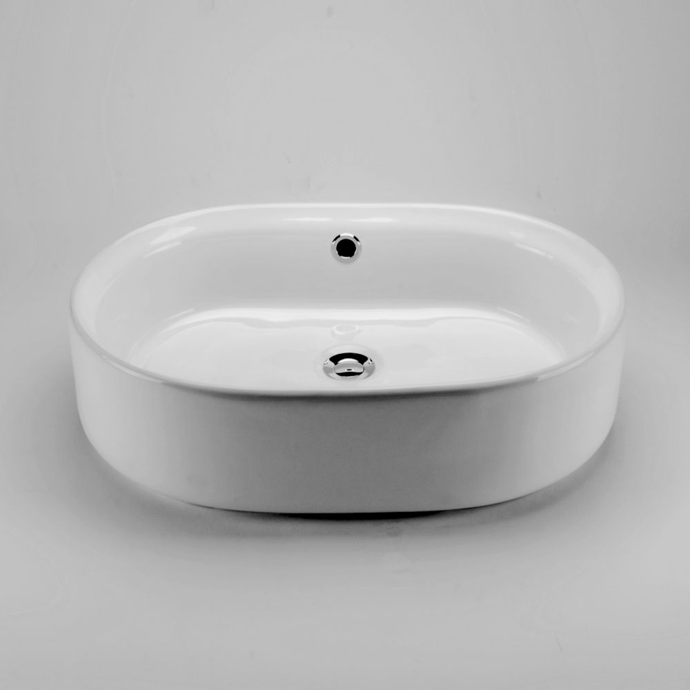 Oval Countertop Vessel Sink