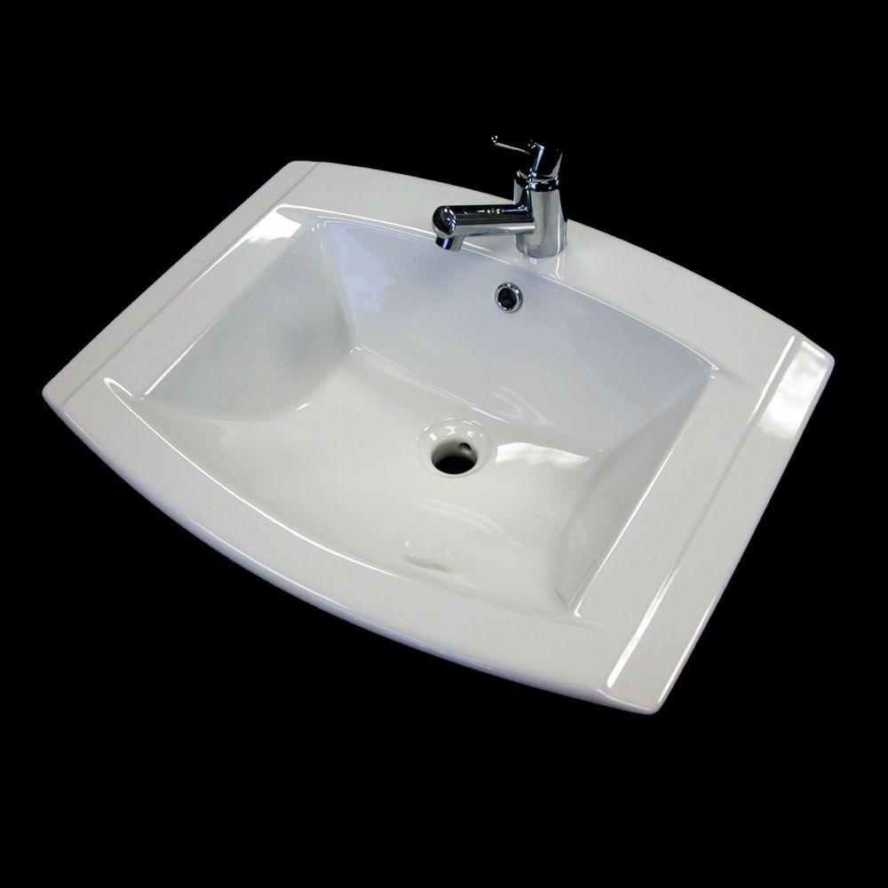 Neptune Ceramic Rectangular Drop-In Sink Basin