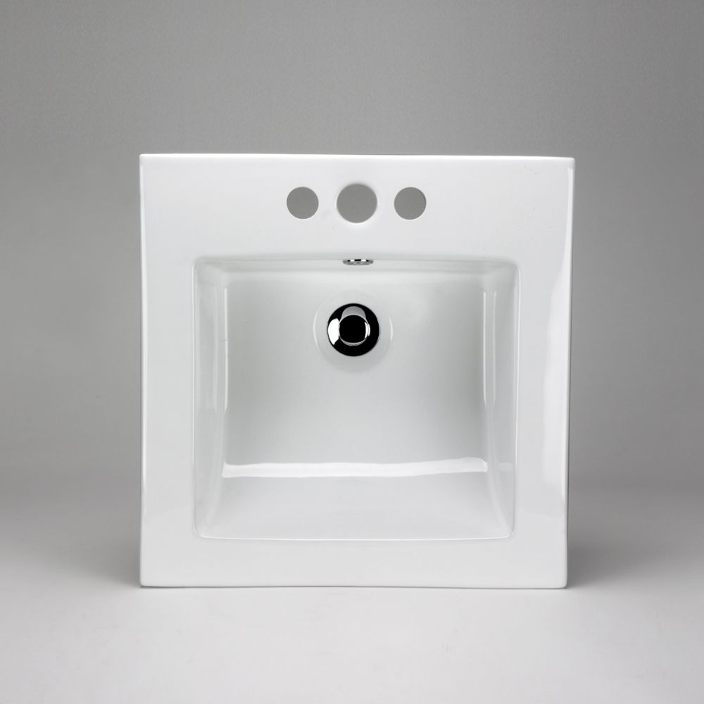 Neptune Ceramic Square Drop-In Sink Basin