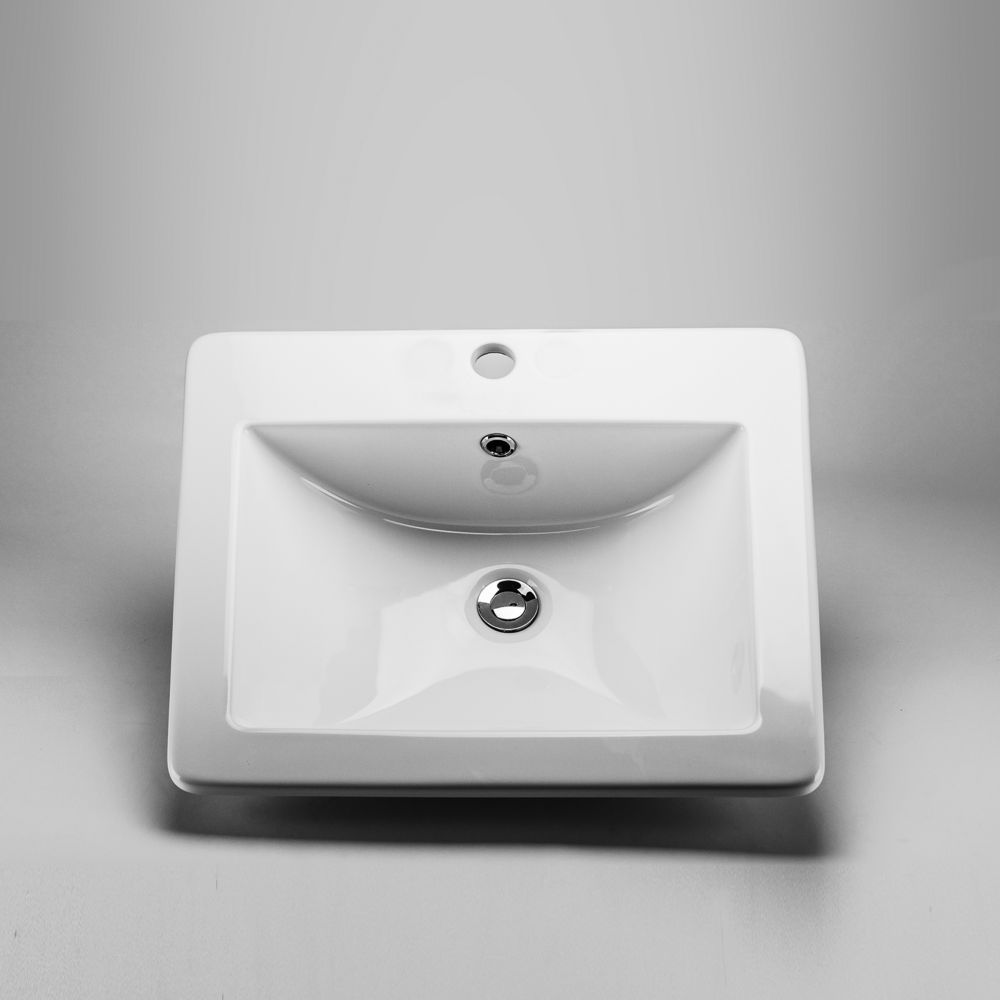 Neptune Sink : Acri-Tec Neptune Ceramic Rectangular Drop-In Sink Basin The Home ...