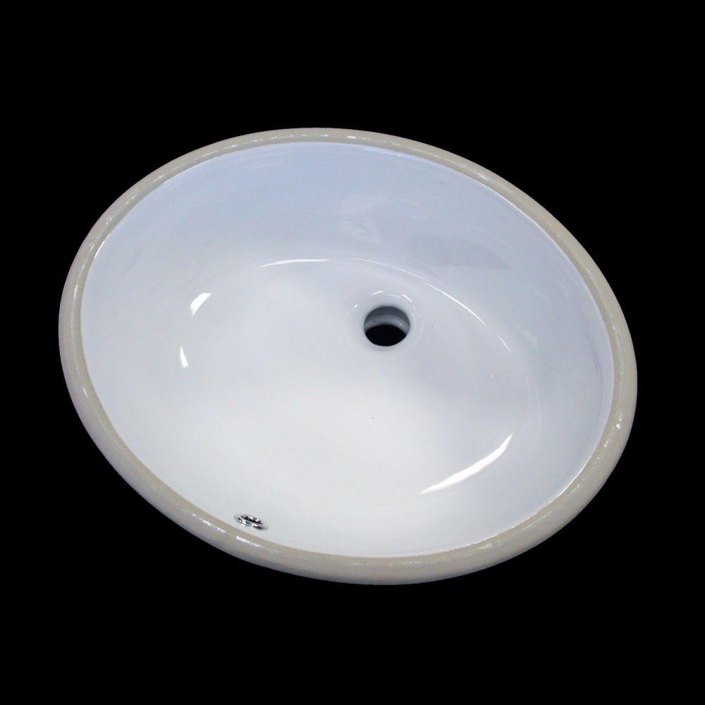 Lavabo de dessus de comptoir en céramique ovale