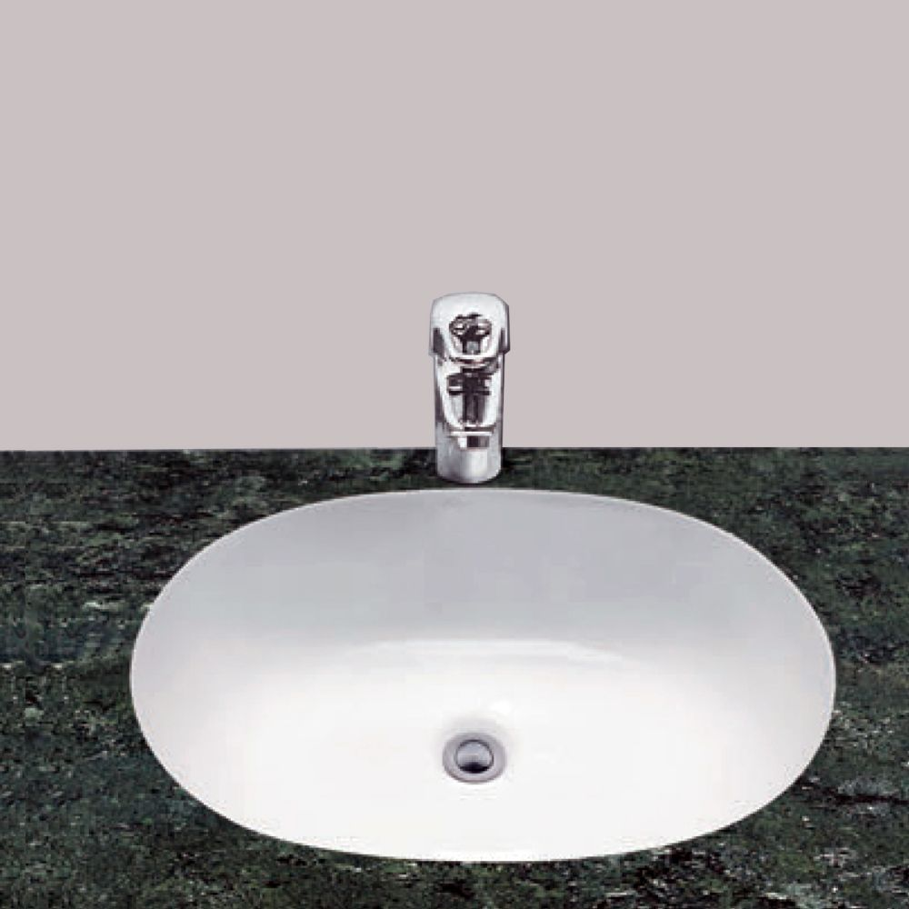Neptune Ceramic Oval Undermount Bathroom Sink Basin
