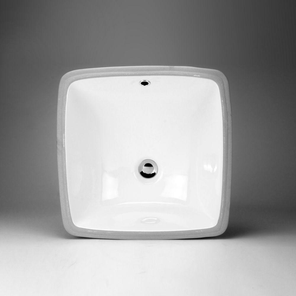 Lavabo de dessus de comptoir en céramique carré