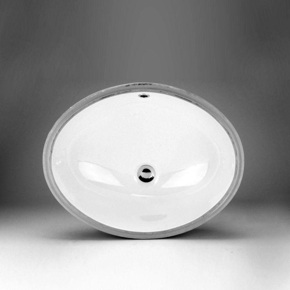 Neptune Ceramic Oval Undermount Bathroom Sink Basin