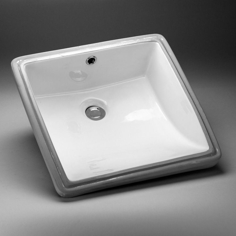 Acri-Tec 17 1/8 x 17 1/8 Ceramic Square Undermount Sink Basin