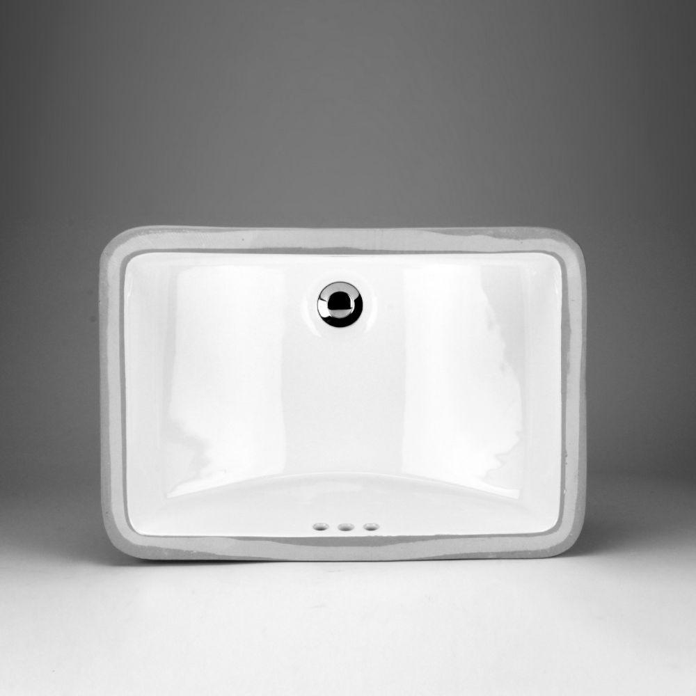 Acri-Tec 20 5/8 x 14 5/8 Ceramic Rectangular Undermount Sink Basin