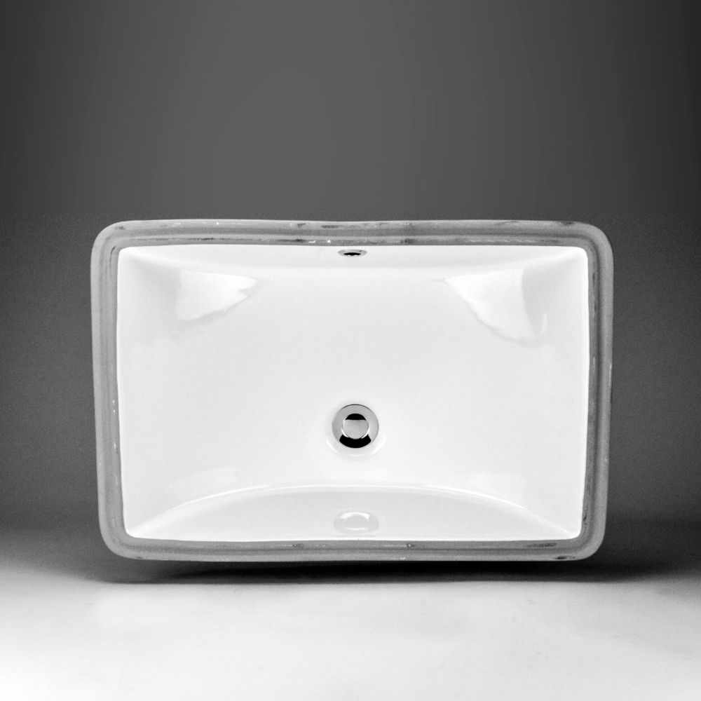 Neptune Ceramic Rectangular Undermount Sink Basin