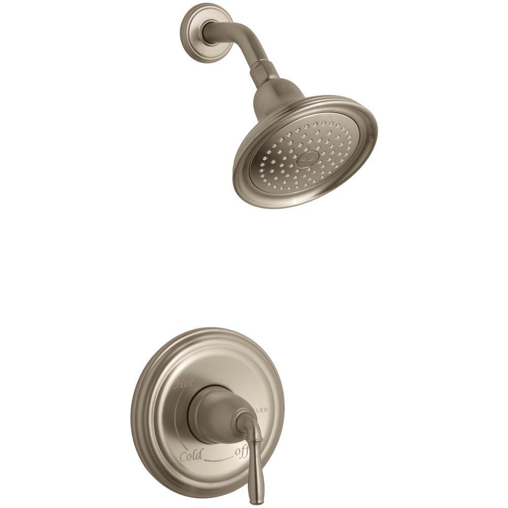 KOHLER Devonshire Rite-Temp Pressure-Balancing Shower Faucet in Vibrant Brushed Bronze