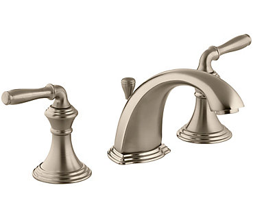 KOHLER Devonshire Widespread Bathroom Faucet In Vibrant Brushed - Kohler devonshire bathroom faucet brushed nickel
