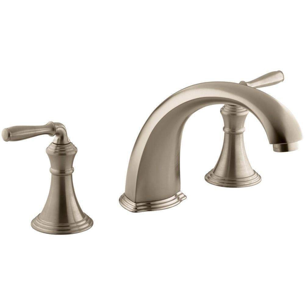 Devonshire Deck/Rim-Mount High-Flow Bathroom Faucet in Vibrant Brushed Bronze Finish