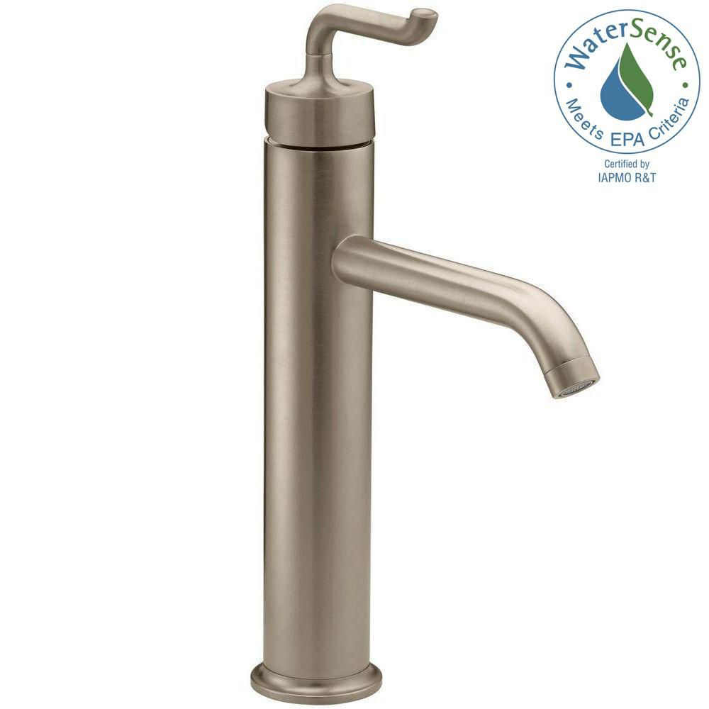 Purist Tall Single-Control Bathroom Faucet in Vibrant Brushed Bronze Finish