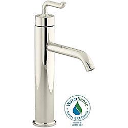 KOHLER Purist Tall Single-Control Bathroom Faucet in Vibrant Polished Nickel Finish