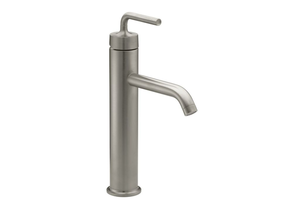 Purist Tall Single-Control Bathroom Faucet in Vibrant Brushed Nickel Finish
