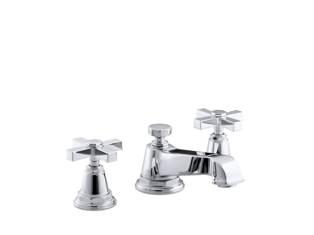 Pinstripe Pure Widespread Bathroom Faucet in Polished Chrome Finish