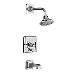 KOHLER Pinstripe (R) Garniture de robinet de bain et de douche à pression équilibrée Pure Rite-Temp ®