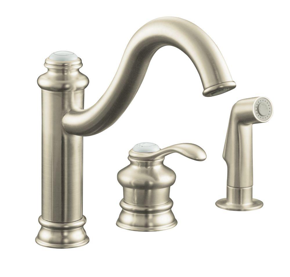 Kohler robinet mono contr le d 39 vier de cuisine fairfax for Prix d un robinet de cuisine