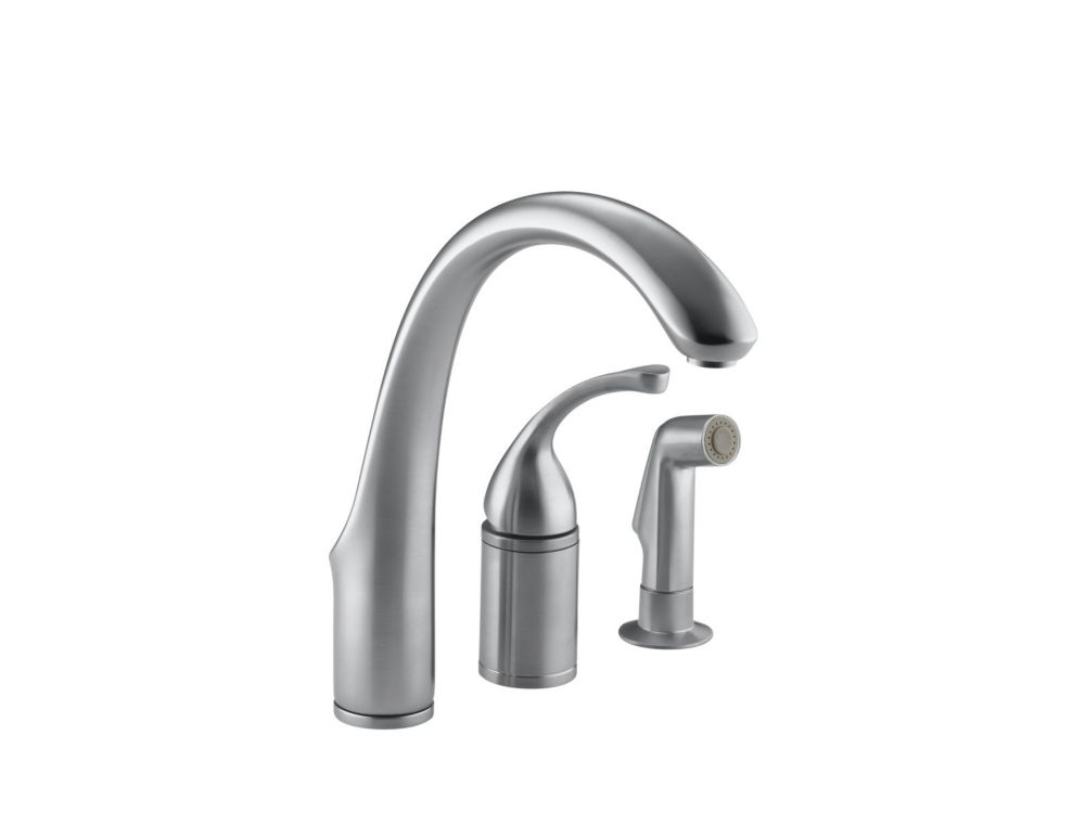 Forté Single-Control Remote Valve Kitchen Sink Faucet With Sidespray And Lever Handle In Brushed ...