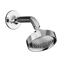 KOHLER Purist Single-Function Showerhead with Arm and Flange in Polished Chrome