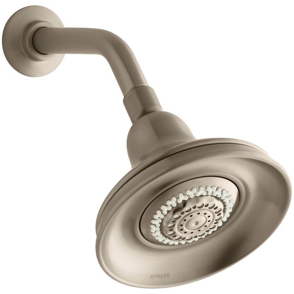 Bancroft Multi-Function Showerhead in Vibrant Brushed Bronze