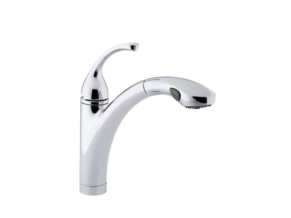 Forté Single-Control Pullout Kitchen Sink Faucet With Color-Matched Sprayhead And Lever Handle In Polished Chrome