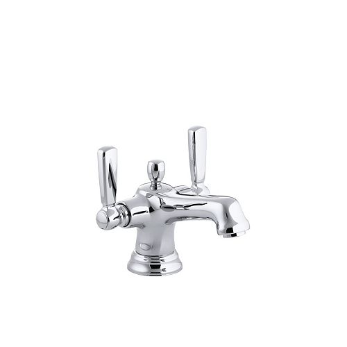 KOHLER Bancroft(R) monoblock single-hole bathroom sink faucet with escutcheon and metal lever handles