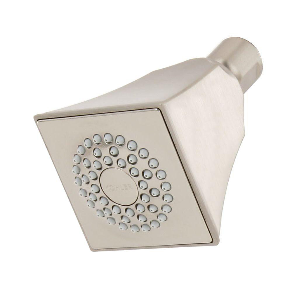 Memoirs Single-Function Showerhead with Stately Design in Vibrant Brushed Nickel