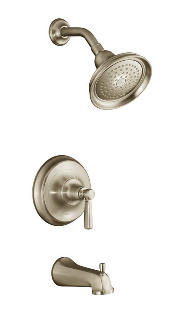 KOHLER Bancroft Rite-Temp Pressure-Balancing Bath/Shower Faucet in Vibrant Brushed Bronze
