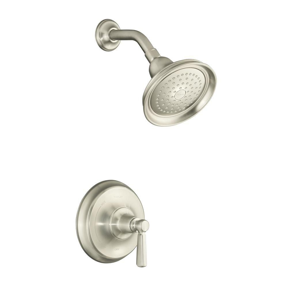 KOHLER Bancroft Rite-Temp Pressure-Balancing Shower Faucet in Vibrant Brushed Nickel