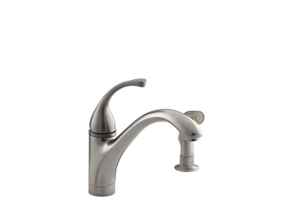 Fort Single-Control Kitchen Sink Faucet With Sidespray And Lever Handle In Vibrant Stainless K-10416-VS Canada Discount
