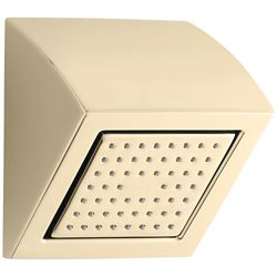KOHLER WaterTile Square 54-Nozzle Showerhead in Vibrant French Gold