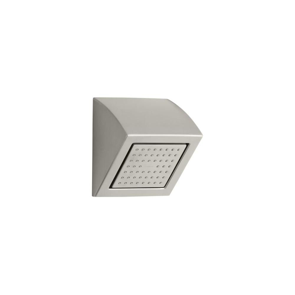 KOHLER WaterTile Square 54-Nozzle Showerhead in Vibrant Brushed Nickel
