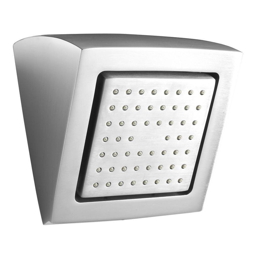 KOHLER WaterTile Square 54-Nozzle Showerhead in Brushed Chrome