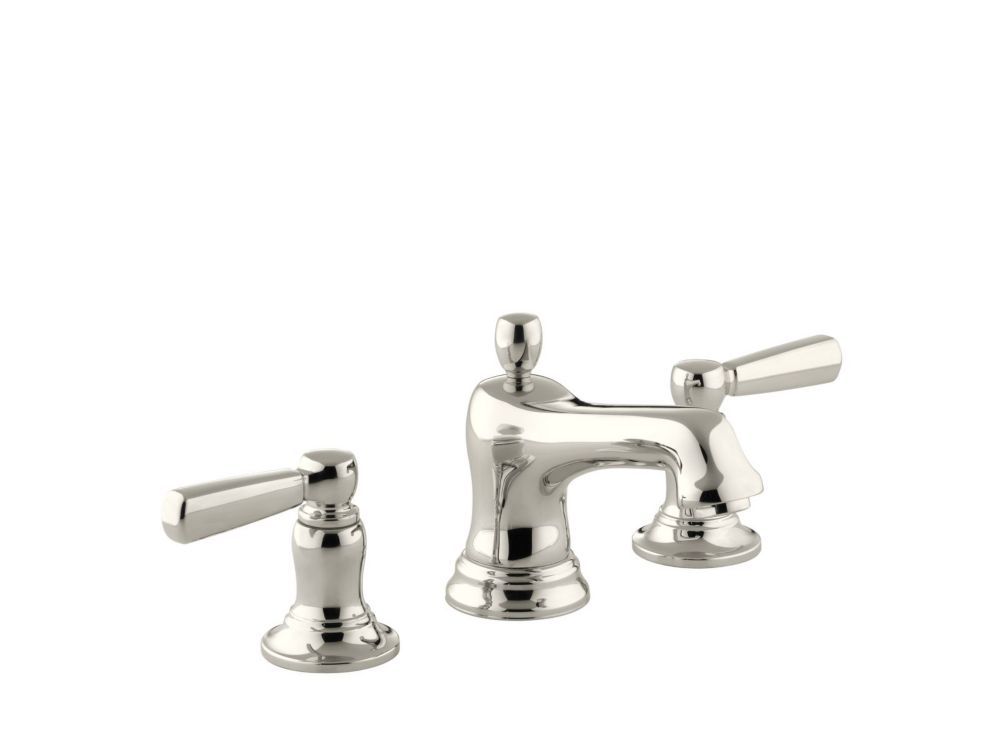 Bancroft Widespread Bathroom Faucet in Vibrant Polished Nickel Finish