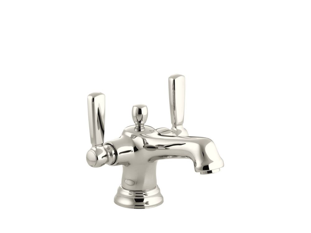 Bancroft Monoblock Bathroom Faucet in Vibrant Polished Nickel Finish