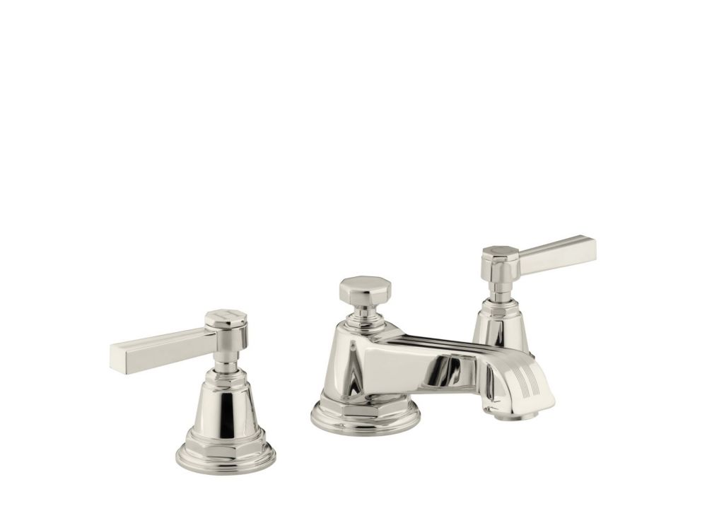 Widespread Bathroom Faucet : KOHLER Pinstripe Widespread Lavatory Faucet In Vibrant Polished Nickel ...