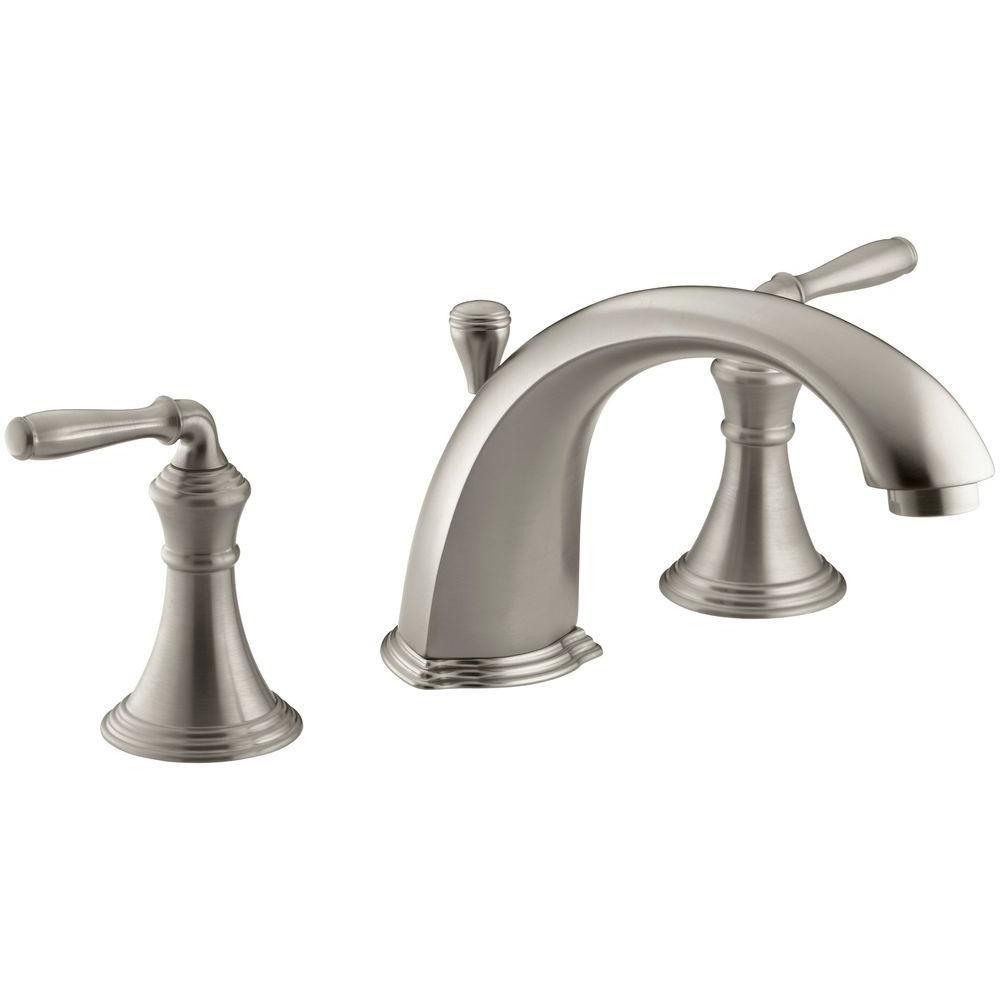 KOHLER Devonshire Deck Mount Bath Faucet In Vibrant Brushed Nickel The Home
