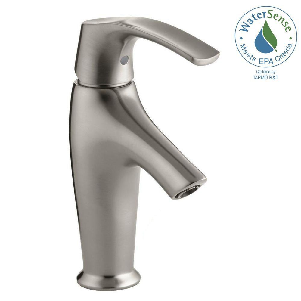 Symbol Single-Control Bathroom Faucet in Vibrant Brushed Nickel Finish