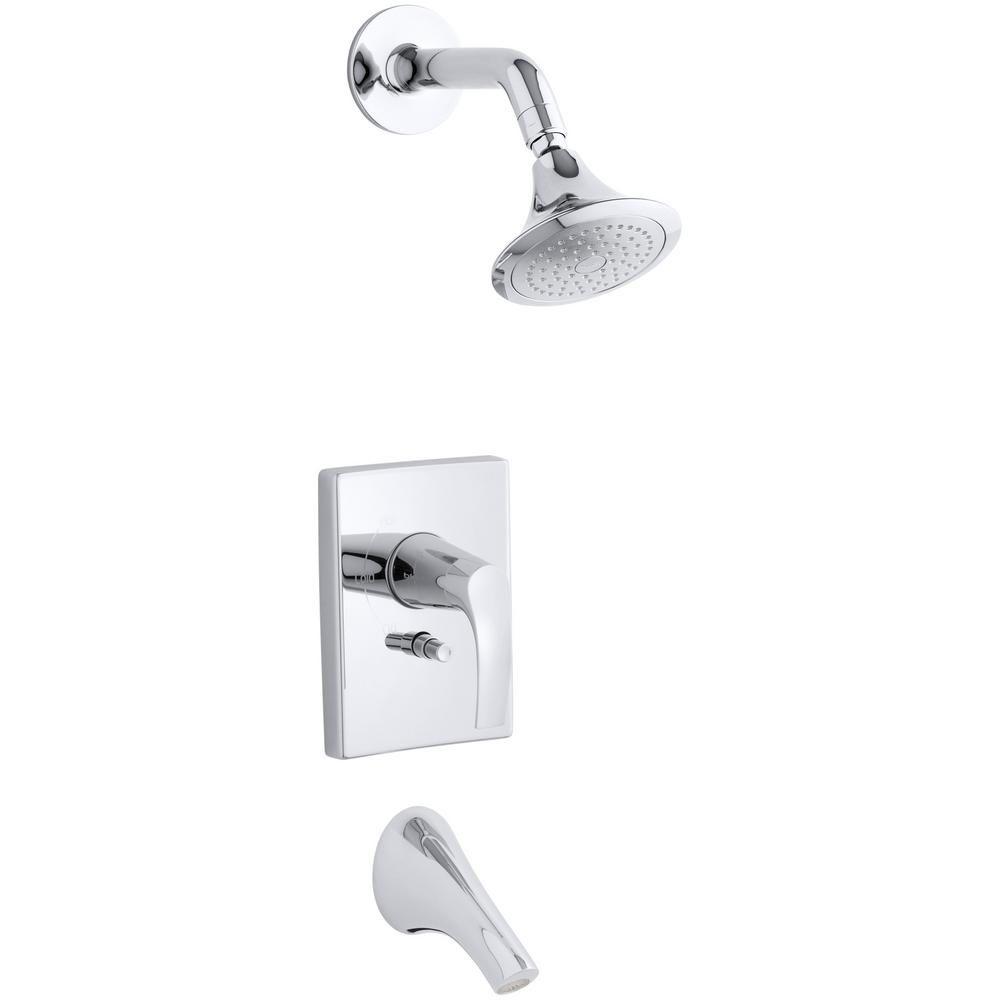 Symbol Rite-Temp Pressure-Balancing Bath/Shower Faucet in Polished Chrome