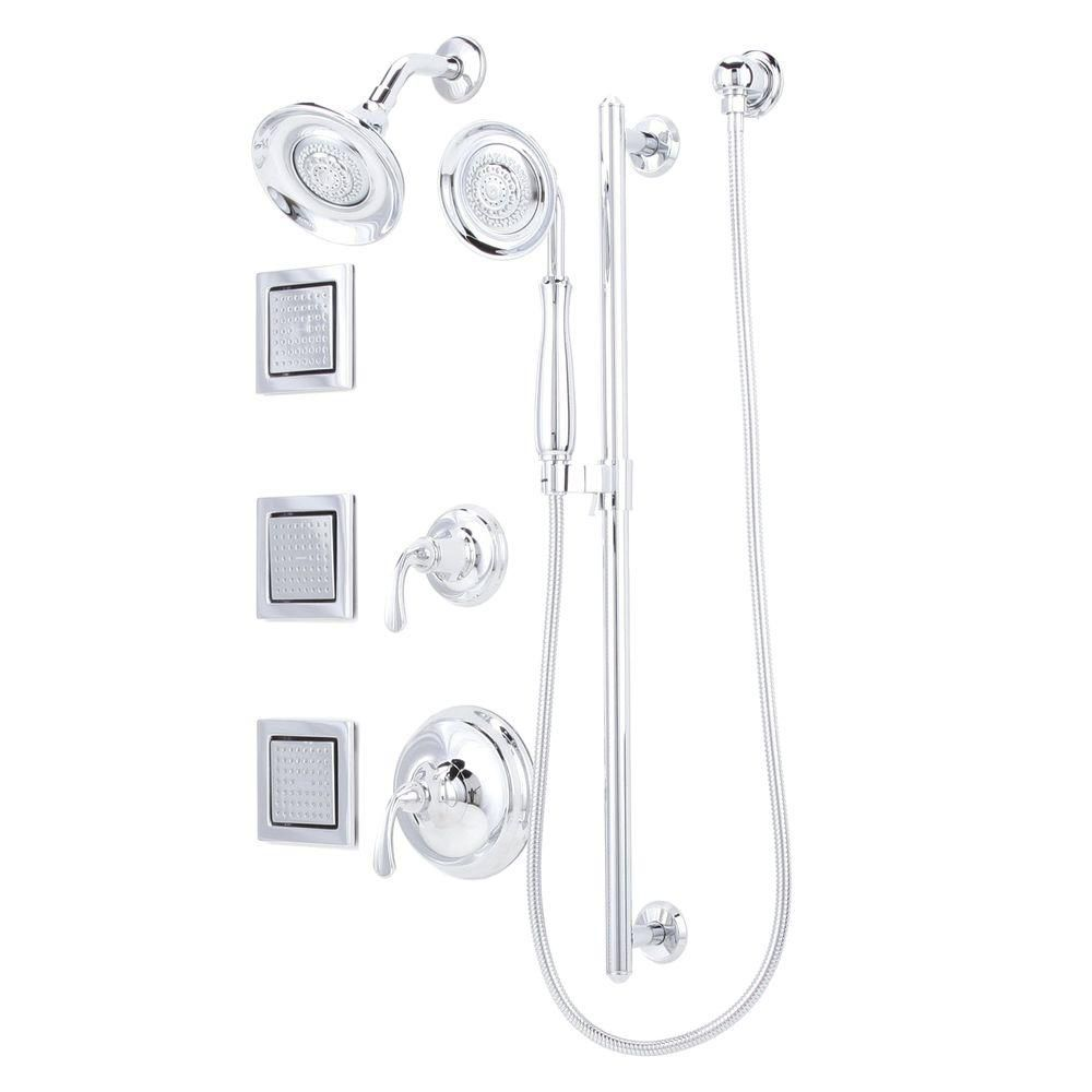 KOHLER Forté Luxury Performance Shower Package in Polished Chrome