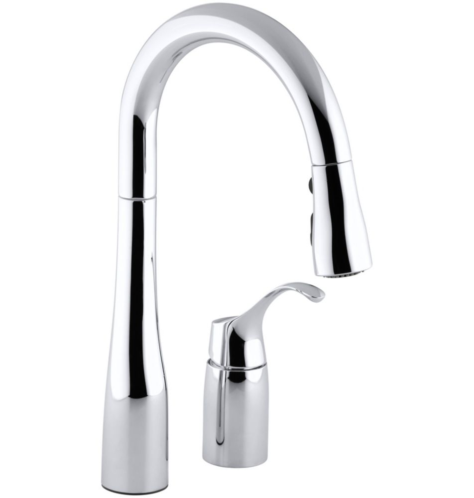 Simplice Pull-Down Secondary Sink Faucet In Polished Chrome