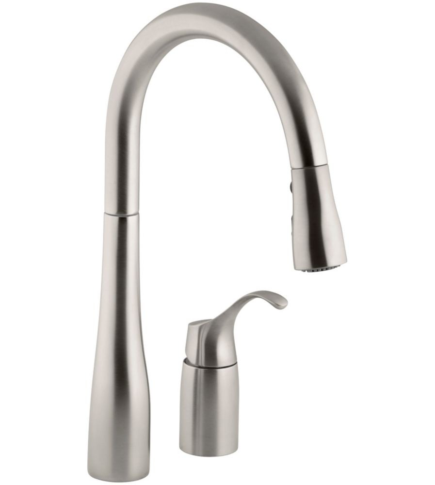 kohler simplice pull down kitchen sink faucet in vibrant
